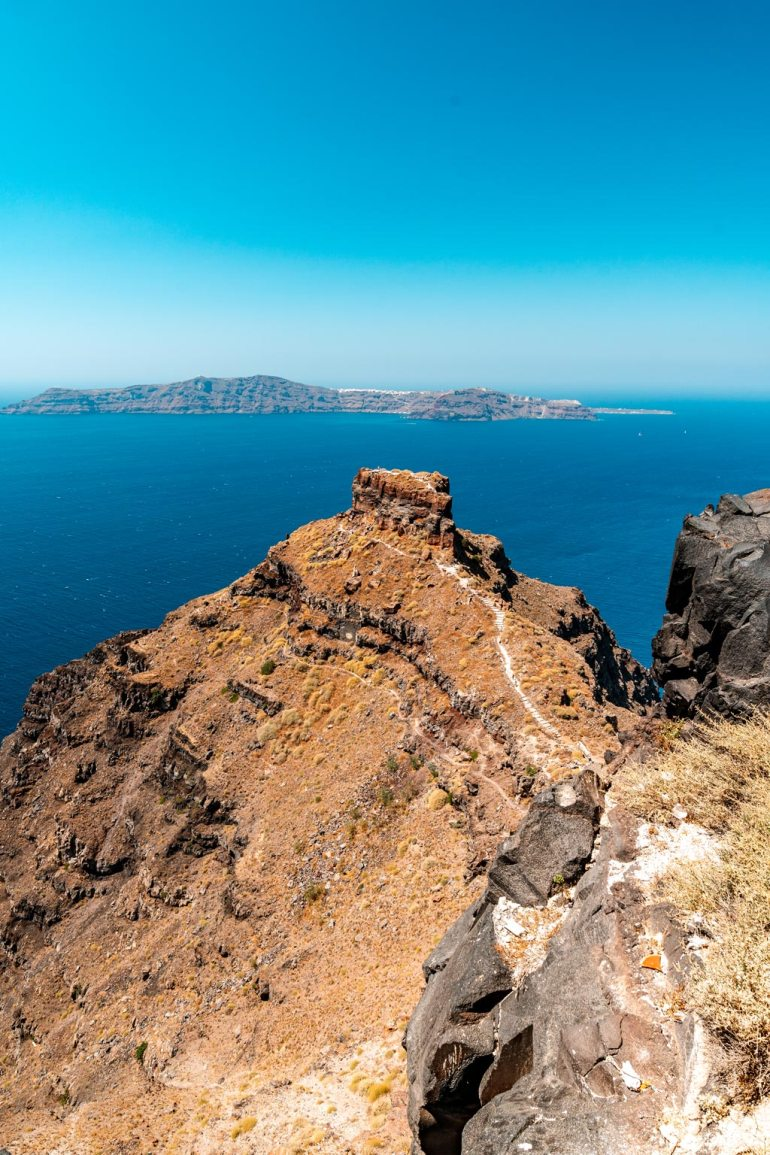 Famous Skaros Rock in Imerovigli