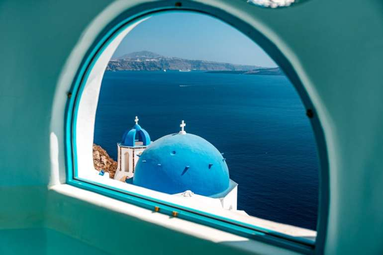 Luxury View Santorini Greek Island Hopping