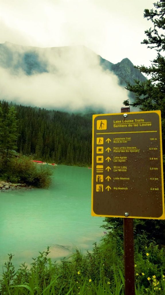 Signposts at Lake Louise