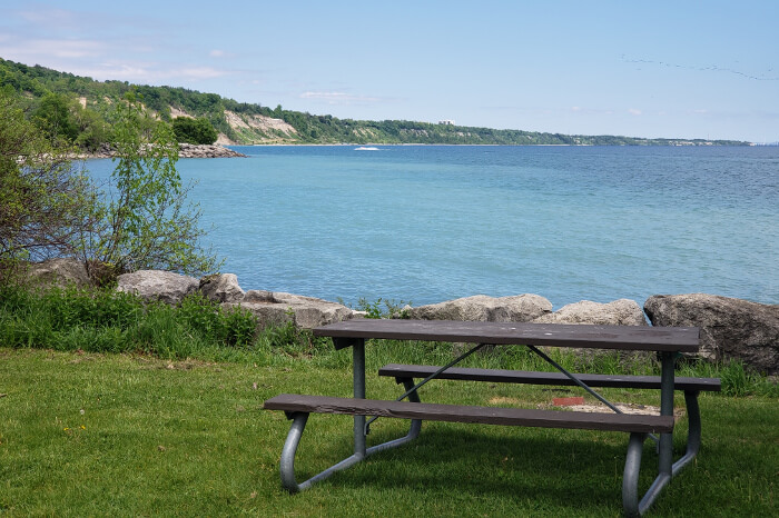 Enjoy a picnic at Bluffer's park.