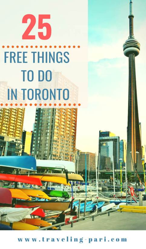Top 25 Free Things To Do In Toronto - Enjoy Toronto on a budget! #toronto, #budgettravel, #freethingstodointoronto, #thingstodointoronto, #torontothingstodo