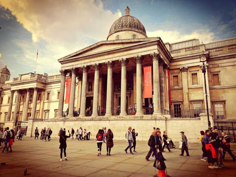 Day 1 of 3 days in London Travel Itinerary - Trafalgar Square and The National Gallery