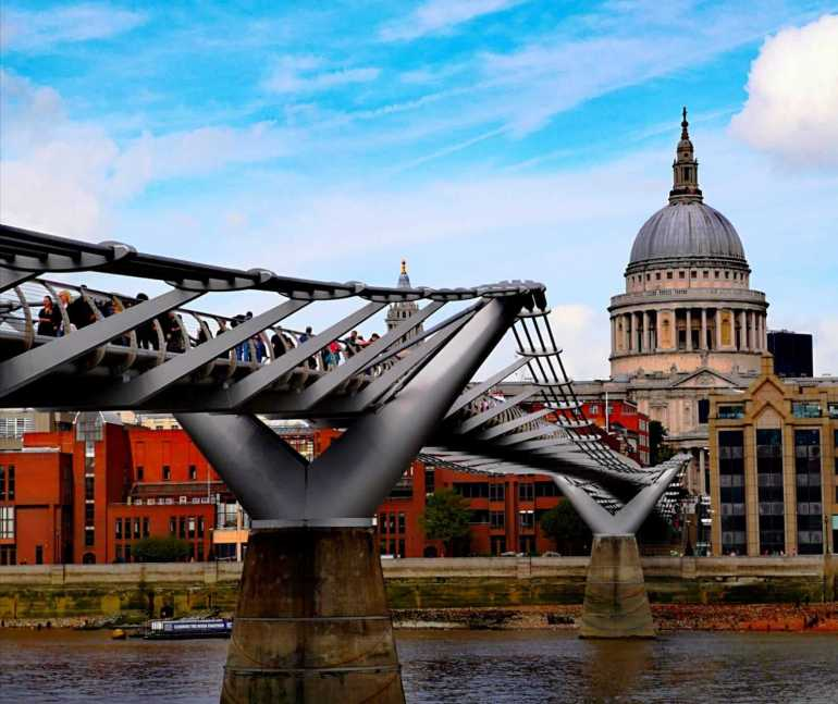 Day 2 of 3 Days in London Itinerary - Millenium Bridge