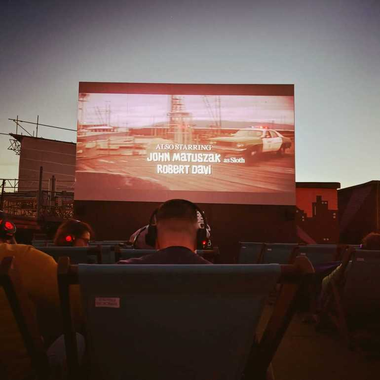 Rooftop Cinema - watching a classic movie at the rooftop film club
