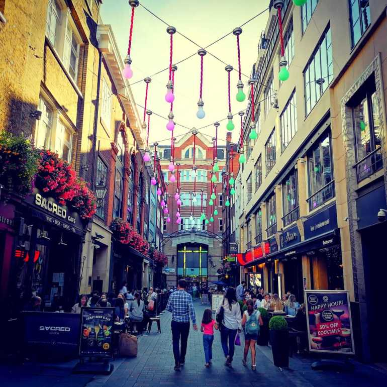 10 Best shopping areas in London: Carnaby Street