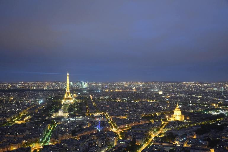 Night-view of Paris from Montparnasse Tower
