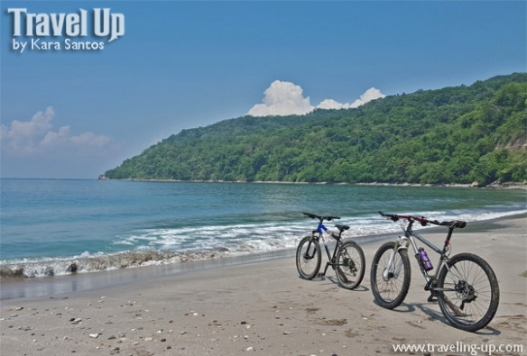 corregidor island philippines bikes on beach
