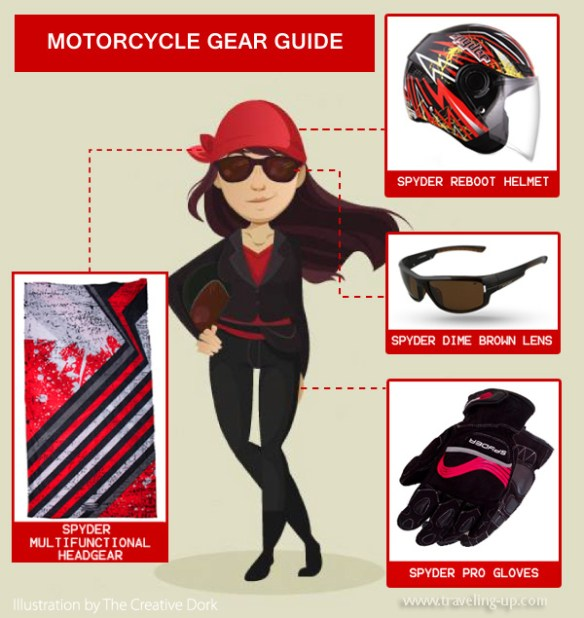 motorcycle gear infographic TravelUp