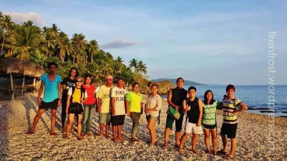 white pebbles beach minalabac camarines sur group photo