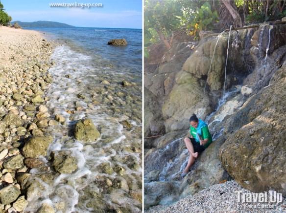 white pebbles beach minalabac carmarines sur coast stream