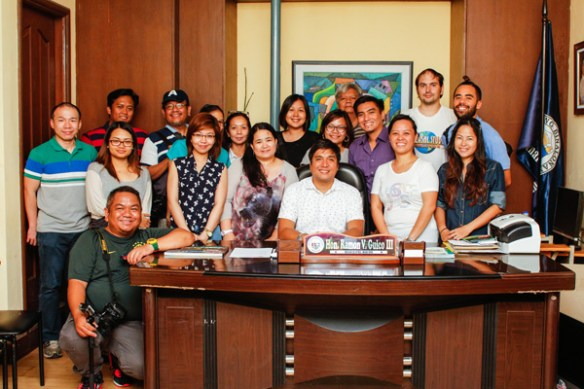 group photo with mayor guico binalonan pangasinan