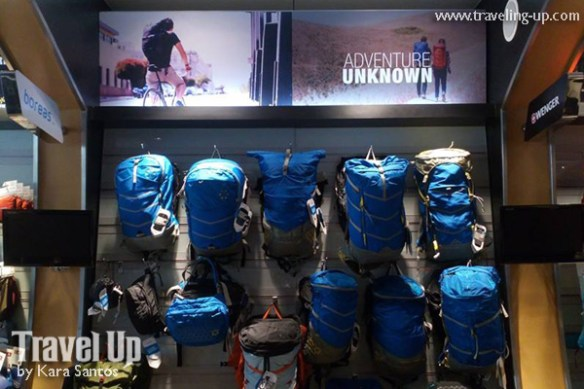 Vaude backpacks on wall tripologie eastwood