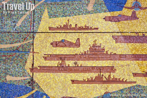 corregidor island mosaic mural battleships