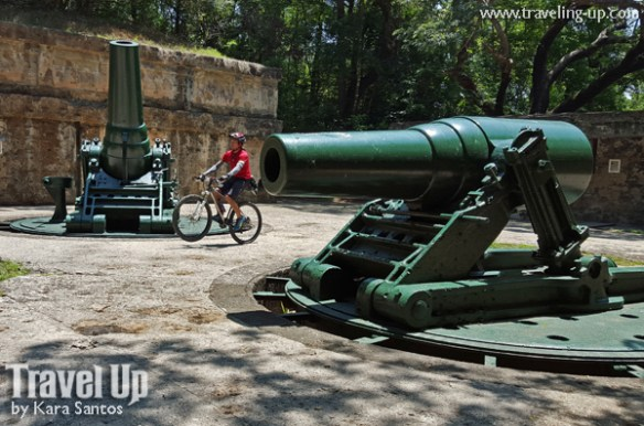 corregidor island philippines biking cannons at battery way