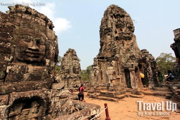 biking cambodia angkor archaeological park bayon temple ruins