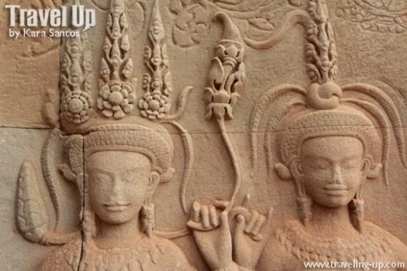 cambodia angkor archaeological park angkor wat carving