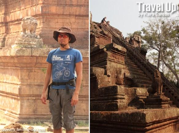 biking day 2 cambodia angkor archaelogical park phimeanakas stairs