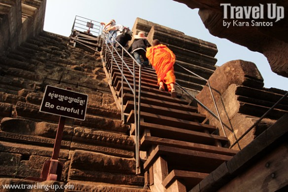 biking day 2 cambodia angkor archaeological park baphuon stairs up