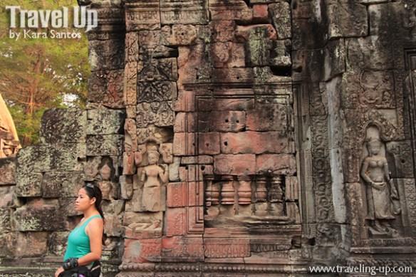biking day 2 cambodia angkor archaeological park preah khan carvings