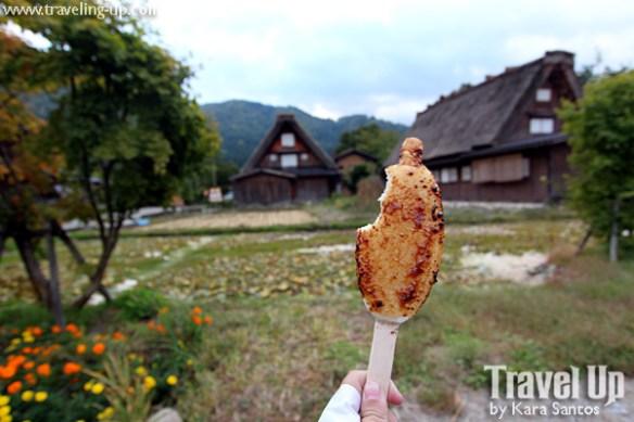 shirakawago village japan gohei mochi rice cake with miso