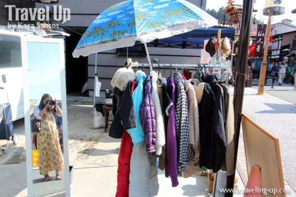 takayama autumn festival japan market clothes