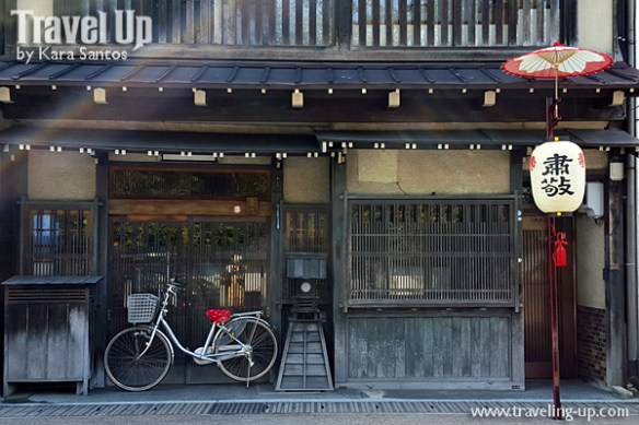 takayama autumn festival japan merchant shop bicycle