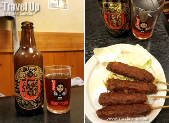 japan nagoya sekai no yamachan miso beer skewers