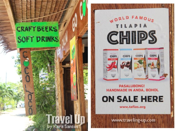 coco loco anda bohol craft beer tilapia chips