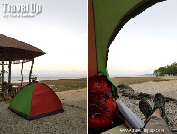 matutinao beach resort badian cebu tent