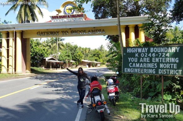 motorcycle manila to naga welcome arch bicolandia camarines norte