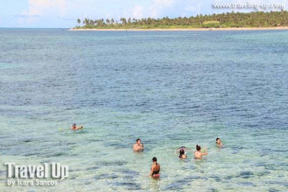 jomalig island kanaway beach view treees swimming