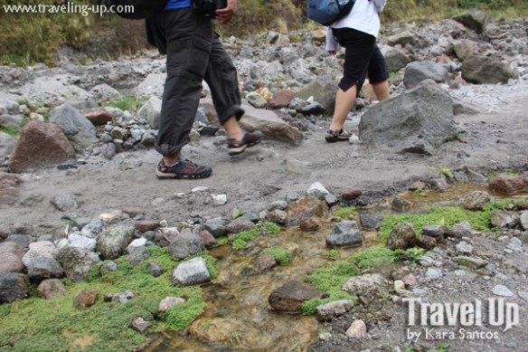 hiking mt. pinatubo trail shoes