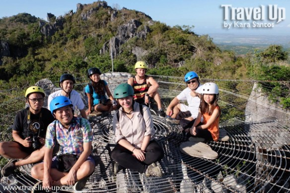 masungi georeserve tanay rizal spiderweb group shot