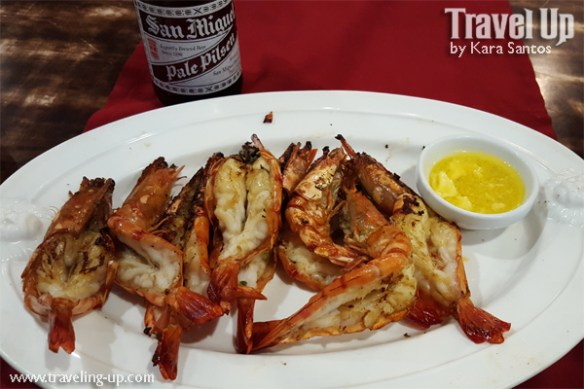 grilled prawns beer red trellis valley high complex general santos city