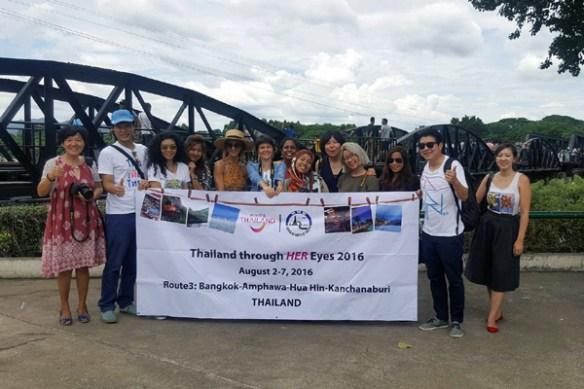 day 7 thailand through her eyes 2016 group shot bridge river kwai
