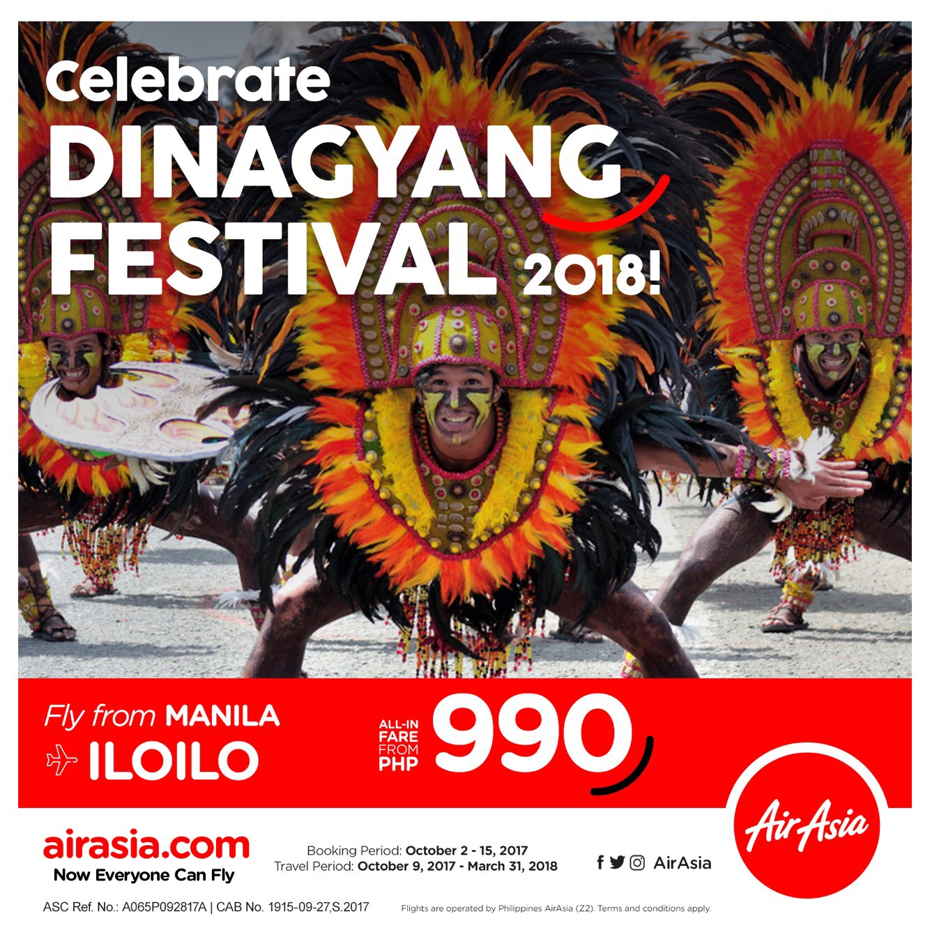 Chase Wonders In Iloilo With Airasia Travel Up Ticket  Air Asia Periode 2018 2019 Until 15 October 2017 And Valid For Starting 9 To 31 March Will Be Flying Three Times Daily From Manila