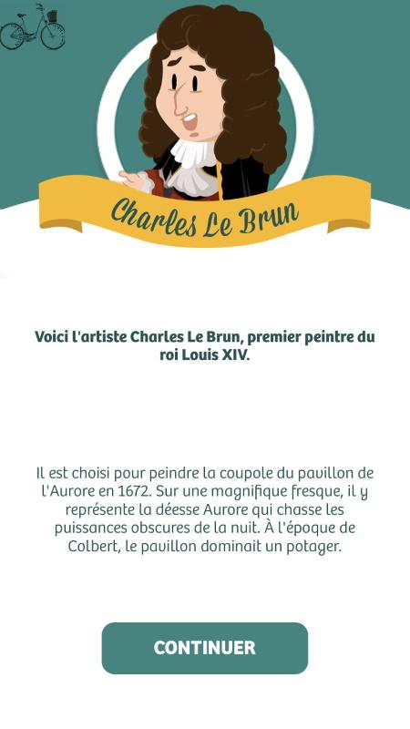 vignette personnage de Charles Le Brun dans Paris Région Aventure
