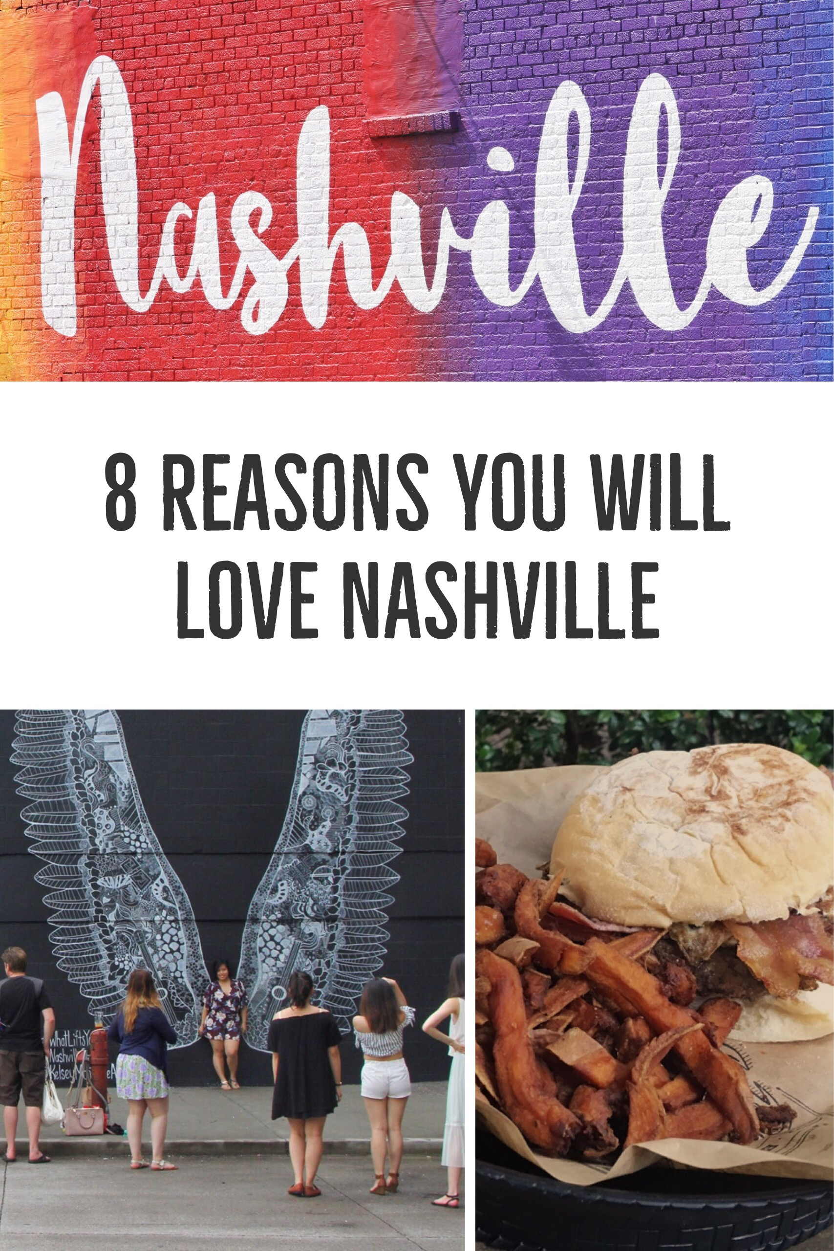 Here are 8 reasons you will love Nashville, Tennessee as your next vacation. Music city is great for live music, food, wine, culture, and more. Music City is more than bachelorette parties and country music!