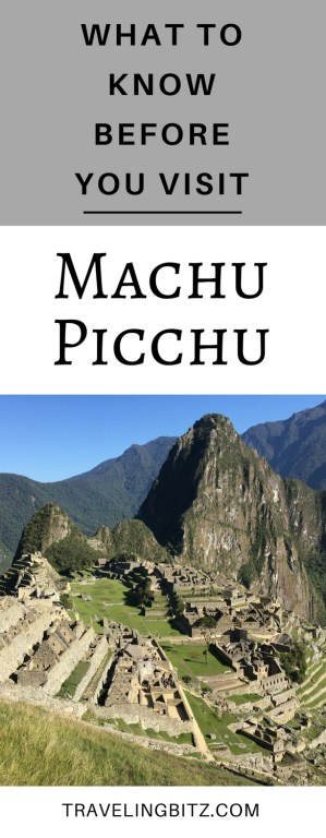 Planning a trip to Machu Picchu? Here are some important things that you should know before you visit the Incan ruins in Peru. #machupicchu #peru #southamerica #travel #visitmachupicchu #traveltips #southamericatravel #travelmachupicchu #travelperu #hikemachupicchu #machupicchutips