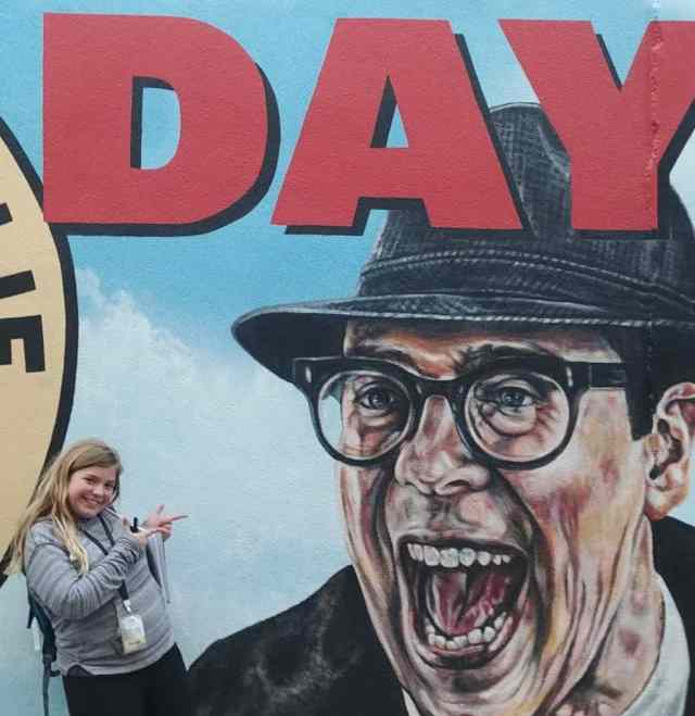 groundhog day full movie walking tour Ned billboard picture with Miss Sarah