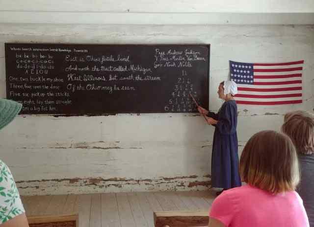 math lesson at Conner Prairie