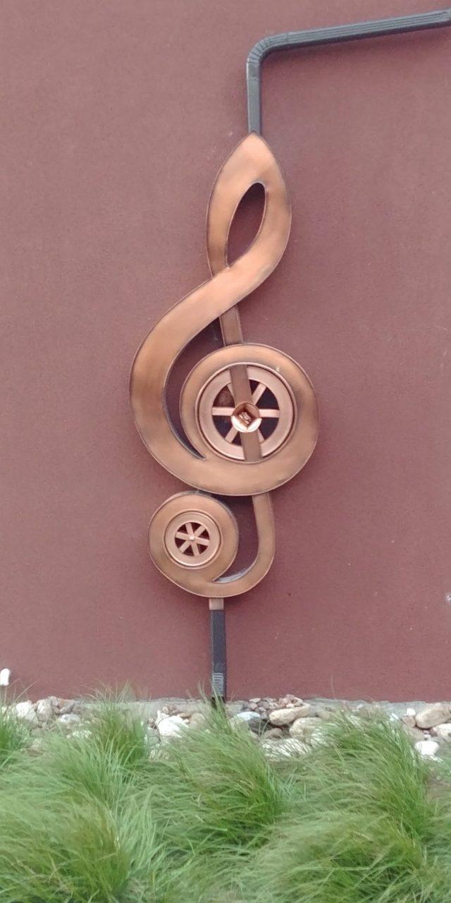 music clef rainwater reclaim art