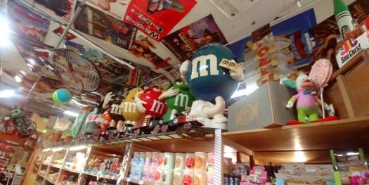 m & M display at hollywood candy