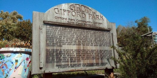 gifford park sign