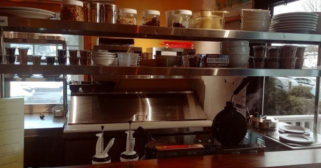 School Grounds Coffee House and David A Morrow Gallery waffle bar