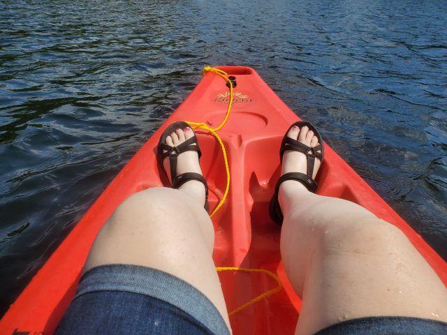 kayaking in the northwoods  of Wisconsin
