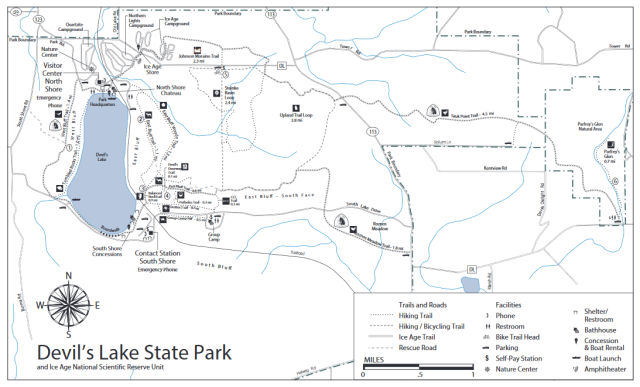 Devil's Lake State Park Trail Map