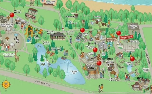 racine zoo map