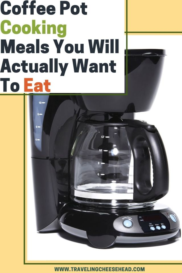 how to cook in your coffee pot