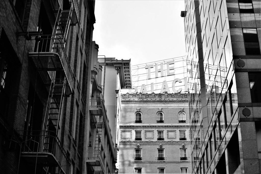 The Palace Hotel, San Francisco. Black and White.